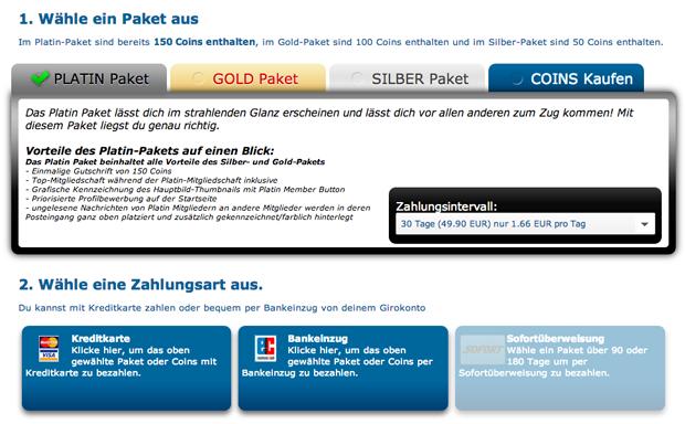 Die Kosten und Preise auf XPartner.com