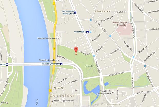 Parkplatzsex in Düsseldorf: Wegbeschreibung zum Hofgarten