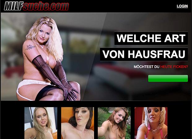 Die Startseite von MILFsuche.com