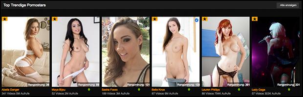 Bei PornHub Premium findest du Pornos hunderter Pornostars