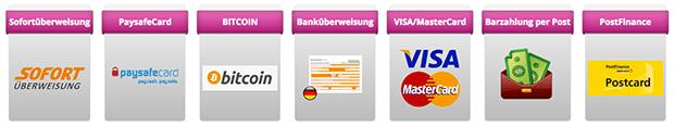 Der Fun-Chat erlaubt dir verschiedene Zahlungswege