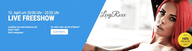 Free Cam Show mit LexyRoxx