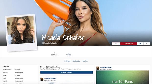 Auch Micaela Schäfer ist auf Porno.de