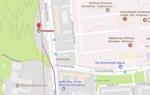 Gay Klappe mitten in München am Scheidplatz