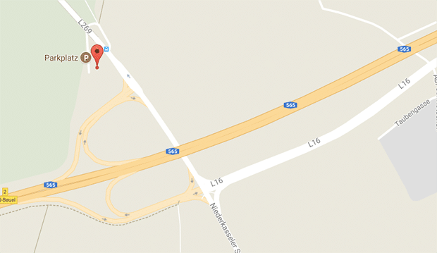 Gay Cruising Bonn auf einem verstecktem Parkplatz auf der L269