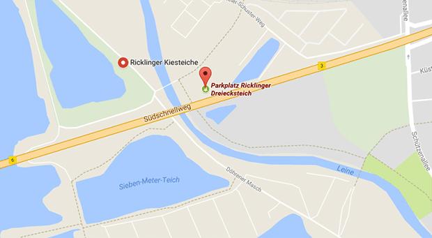 Der Parkplatz am Ricklinger Dreiecksteich wird Abends oft für Parkplatzsex und Cruising genutzt
