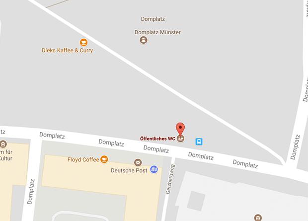 Gay Cruising Münster in einer Klappe am Domplatz