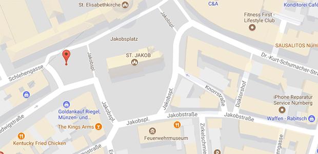 Die öffentliche Toilette am weißem Turm in Nürnberg ist eine Gay Klappe