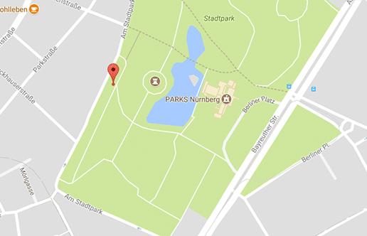 Der Stadtpark in Nürnberg ist eine bekannte Cruising Area