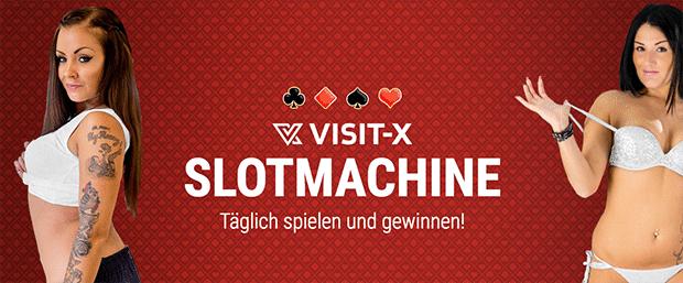 Gewinne mit der Slotmaschine von Visit-X