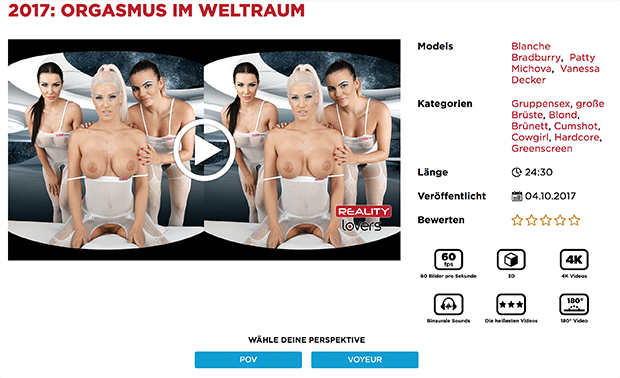 Heiße Pornostars bieten dir geile VR-Pornos